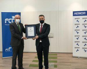 Jordi Payet, Director General de FCC Medio Ambiente, y Rafael García Meiro - CEO AENOR