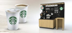 Selecta y Starbucks café vending