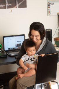 Teletrabajo Recurso Niños familia Niño ordenador bebé
