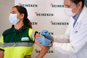 Heineken Vacunación Fábrica