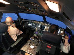 Iberia piloto avión simulador recurso
